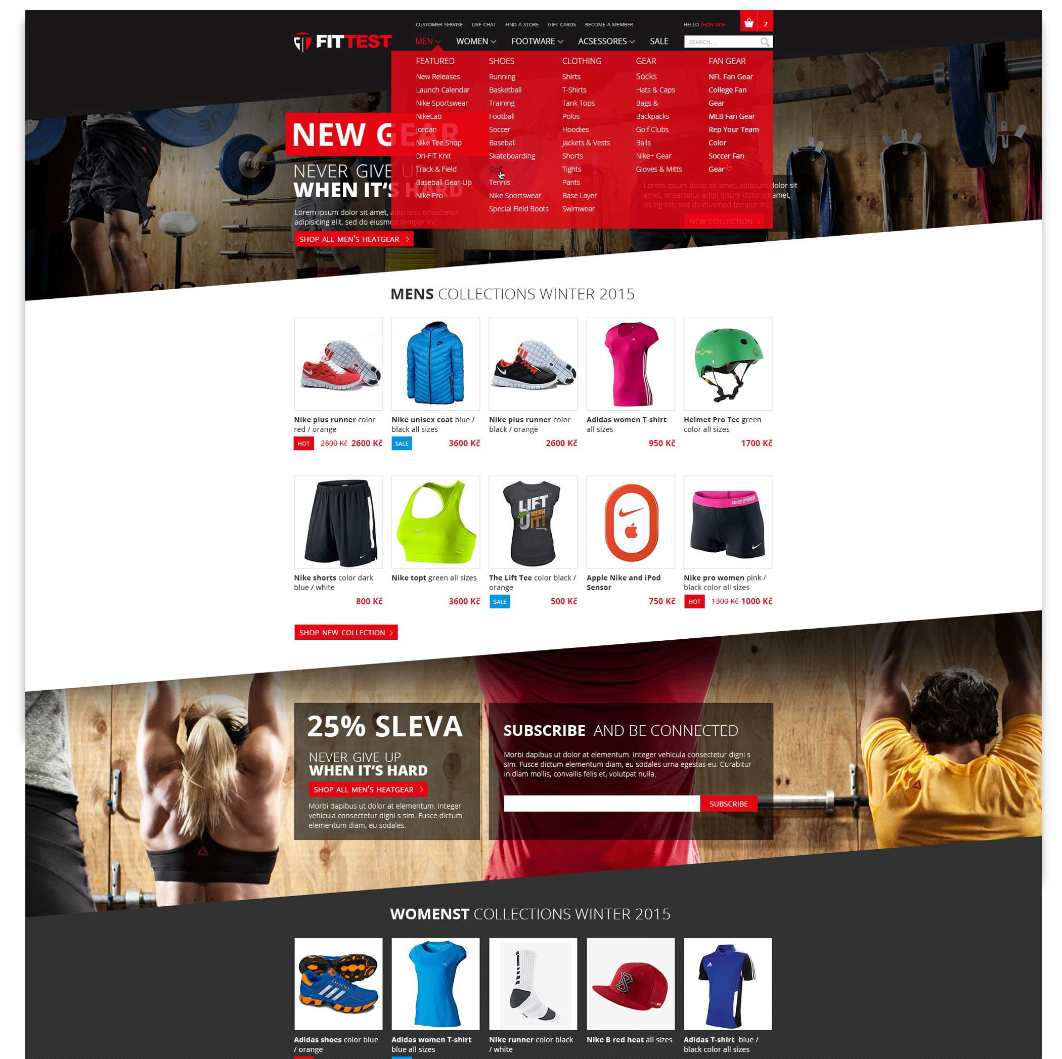 Creating online shopping website Fitter E‐Shop